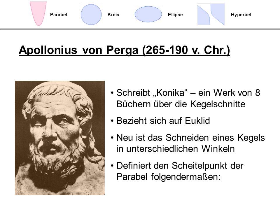Apollonius von Perga (265-190 v. Chr.)