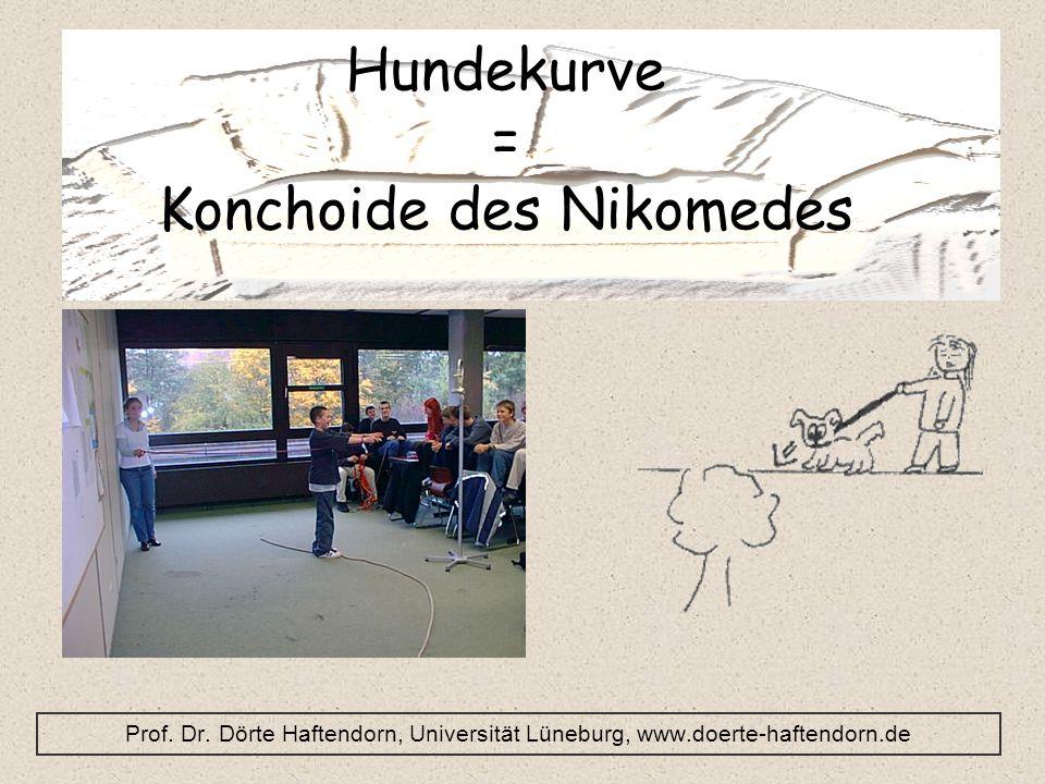 Hundekurve = Konchoide des Nikomedes