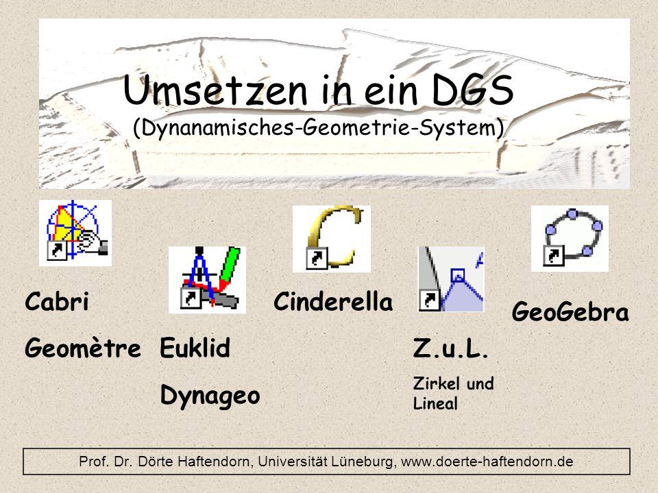 Umsetzen in ein DGS (Dynanamisches-Geometrie-System)