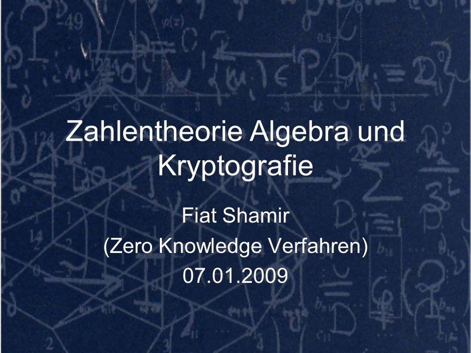 Zahlentheorie Algebra und Kryptografie