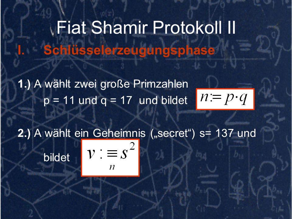 Fiat Shamir Protokoll II