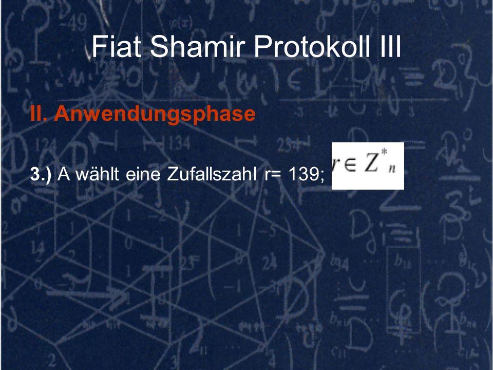Fiat Shamir Protokoll III