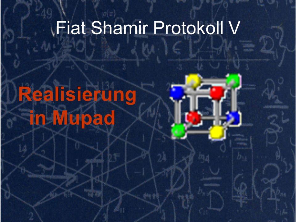 Fiat Shamir Protokoll V