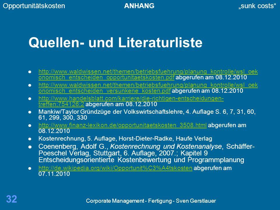 Quellen- und Literaturliste