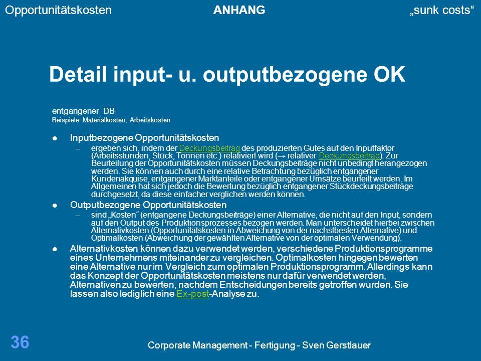 Detail input- u. outputbezogene OK