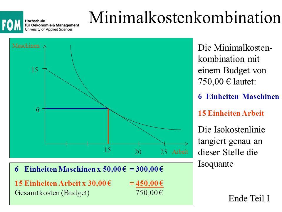 Minimalkostenkombination