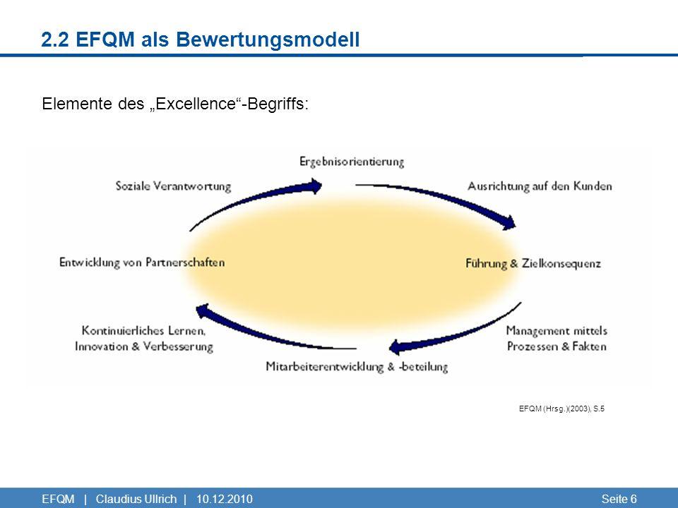2.2 EFQM als Bewertungsmodell