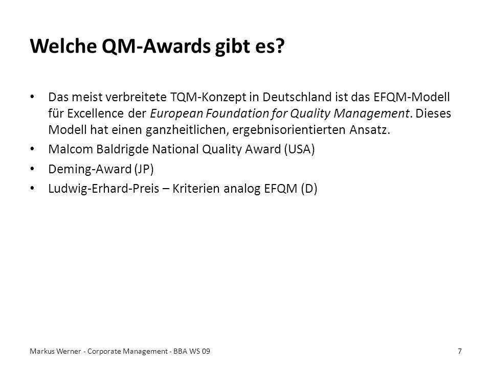 Welche QM-Awards gibt es