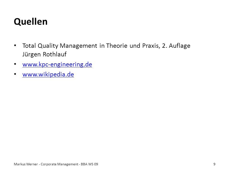 Quellen Total Quality Management in Theorie und Praxis, 2. Auflage Jürgen Rothlauf. www.kpc-engineering.de.