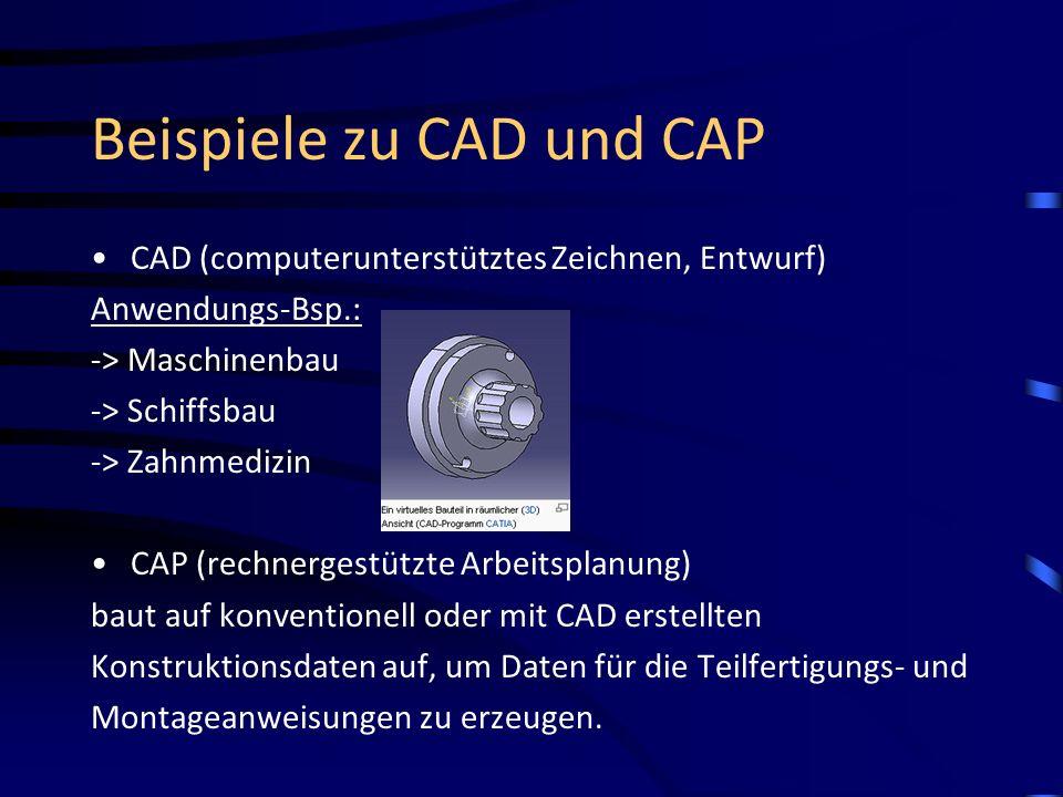 Beispiele zu CAD und CAP