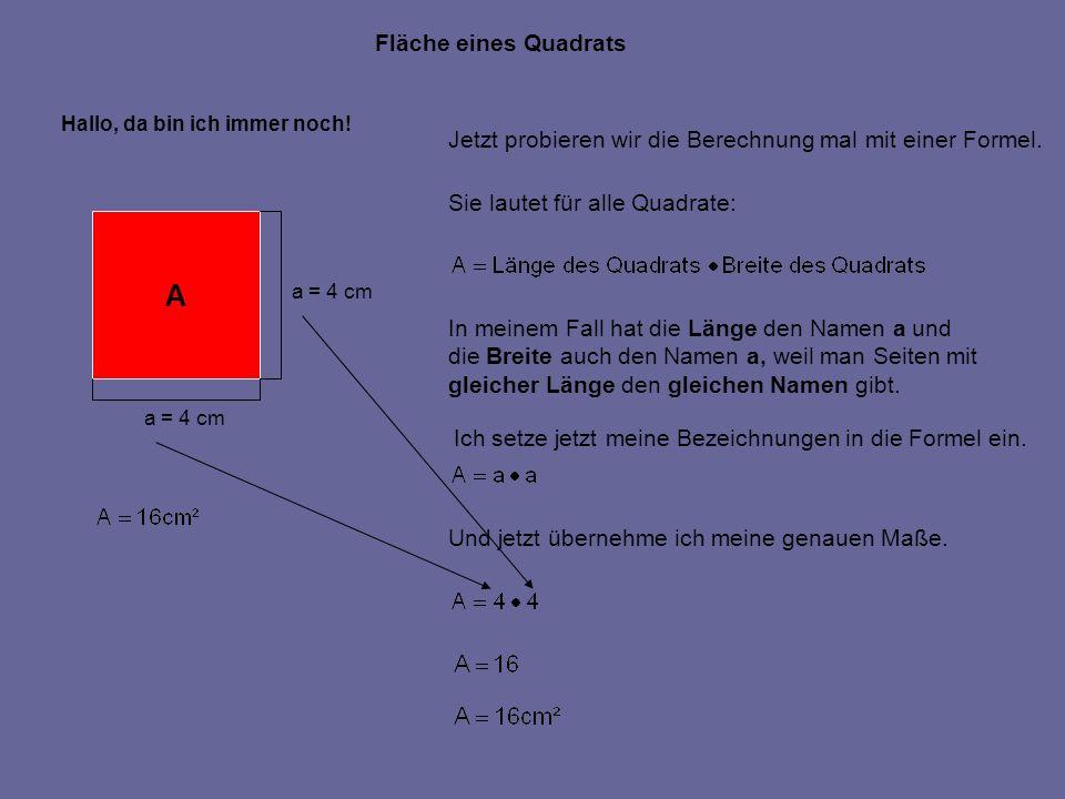 A Fläche eines Quadrats