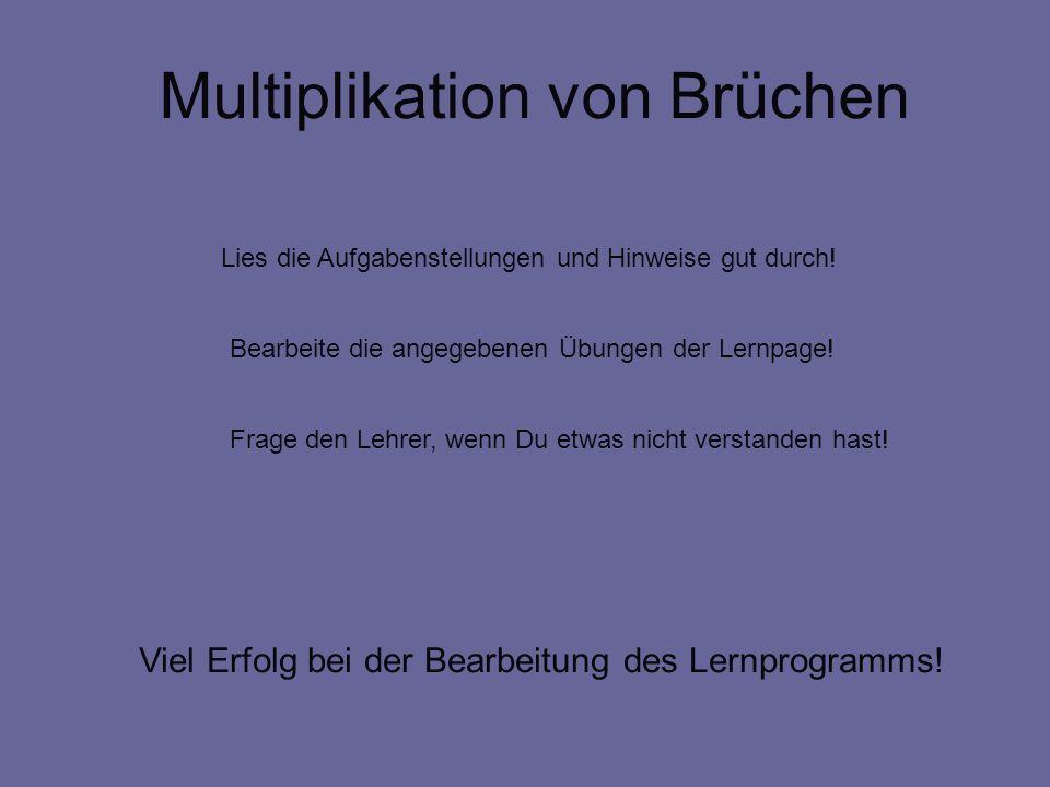 Multiplikation von Brüchen