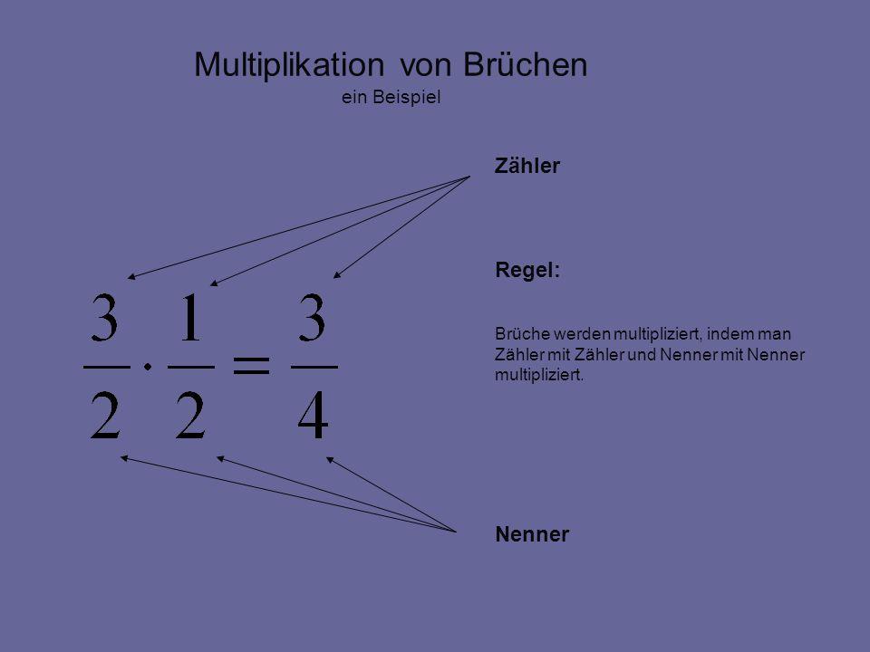 Multiplikation von Brüchen ein Beispiel