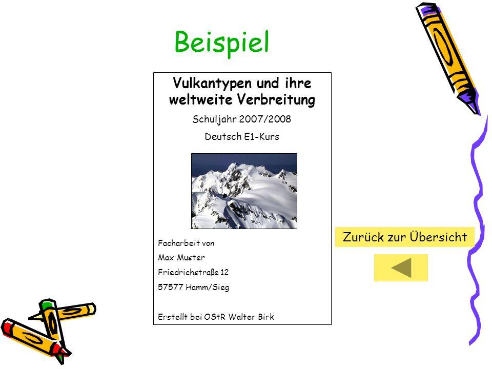 Vulkantypen und ihre weltweite Verbreitung