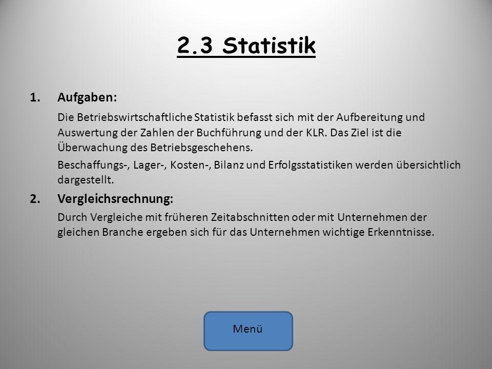 2.3 Statistik Aufgaben: