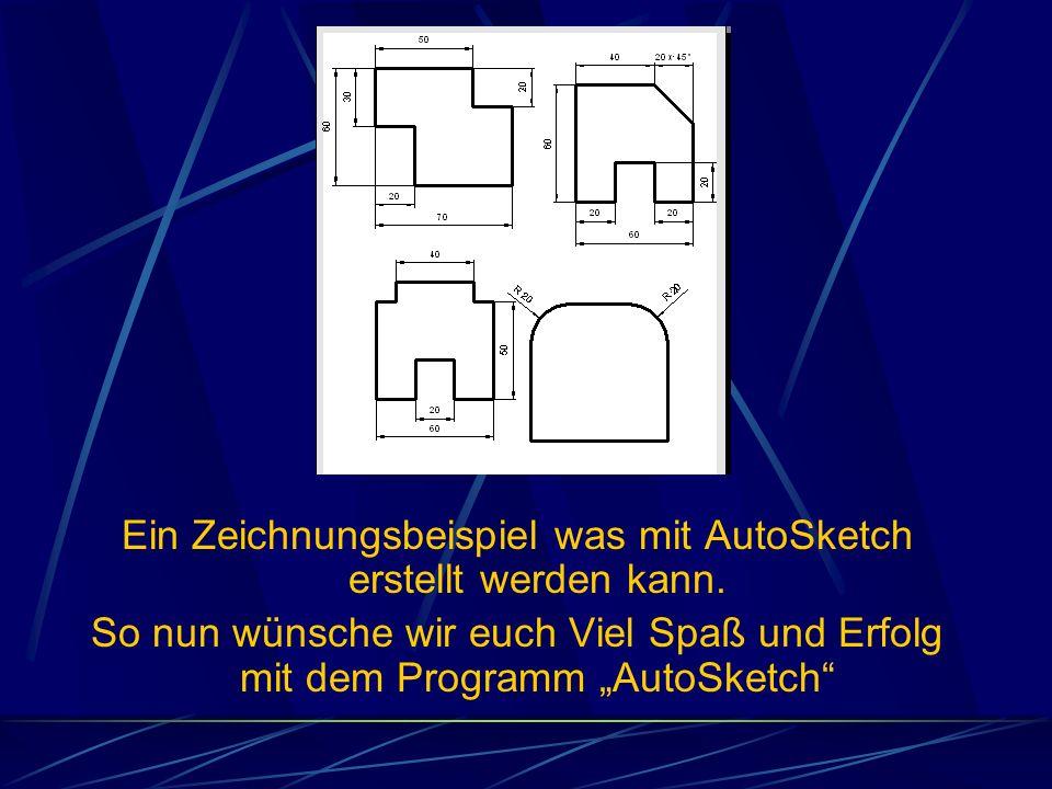 Ein Zeichnungsbeispiel was mit AutoSketch erstellt werden kann.