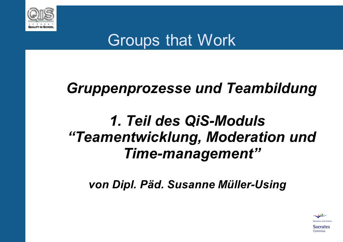Gruppenprozesse und Teambildung von Dipl. Päd. Susanne Müller-Using