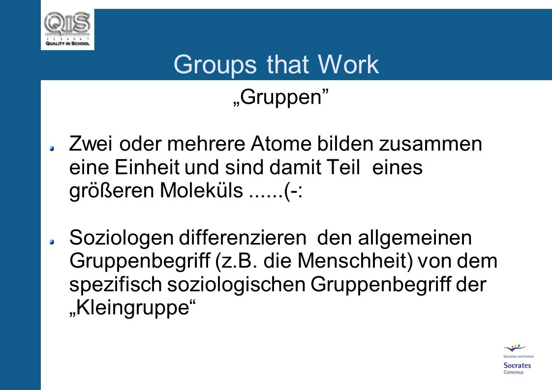"Groups that Work ""Gruppen"