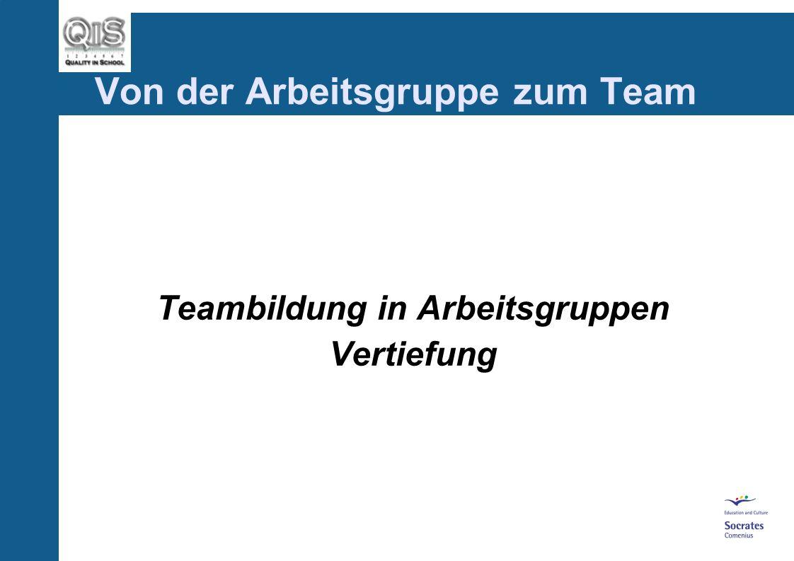 Von der Arbeitsgruppe zum Team