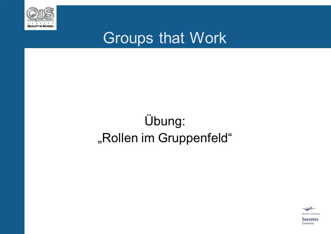 "Übung: ""Rollen im Gruppenfeld"
