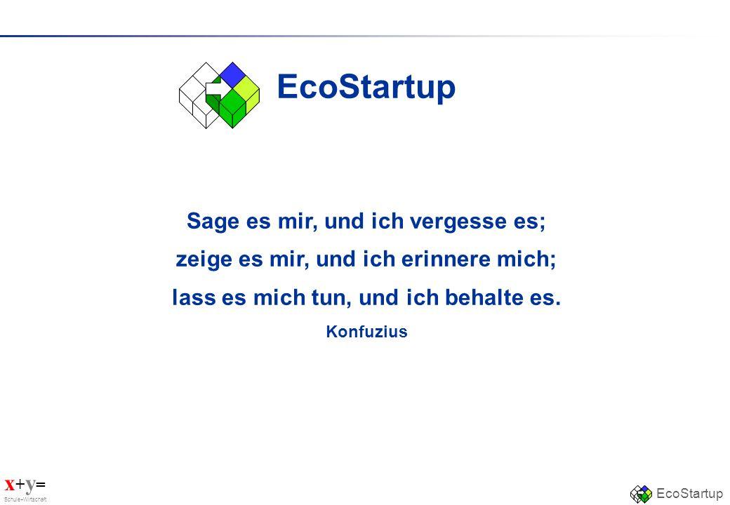 EcoStartup Sage es mir, und ich vergesse es;