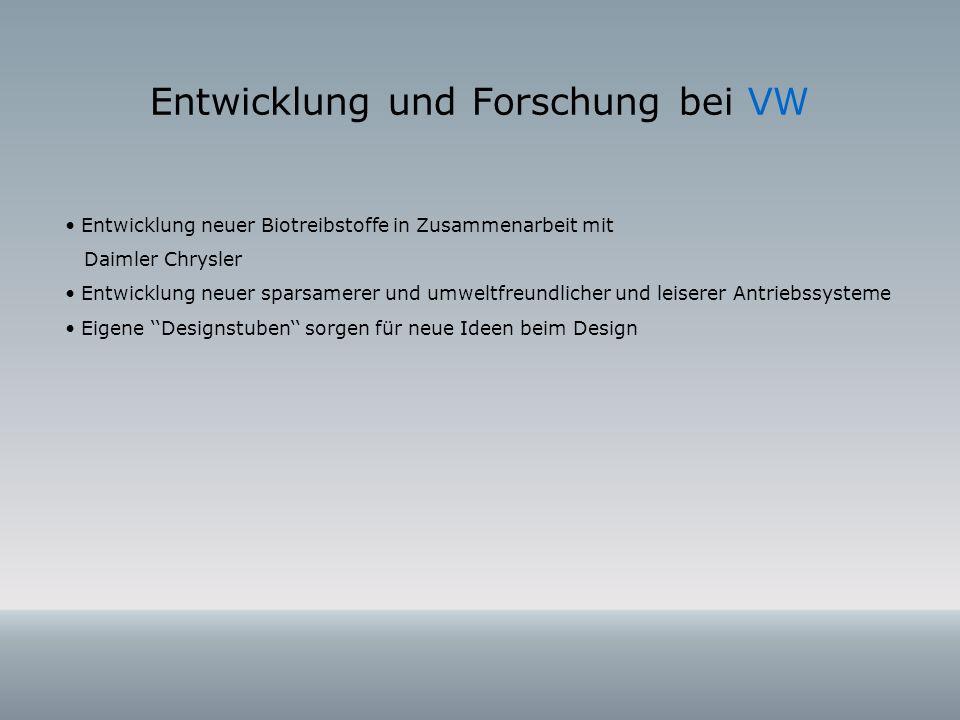 Entwicklung und Forschung bei VW