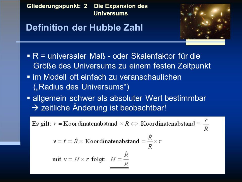 Definition der Hubble Zahl