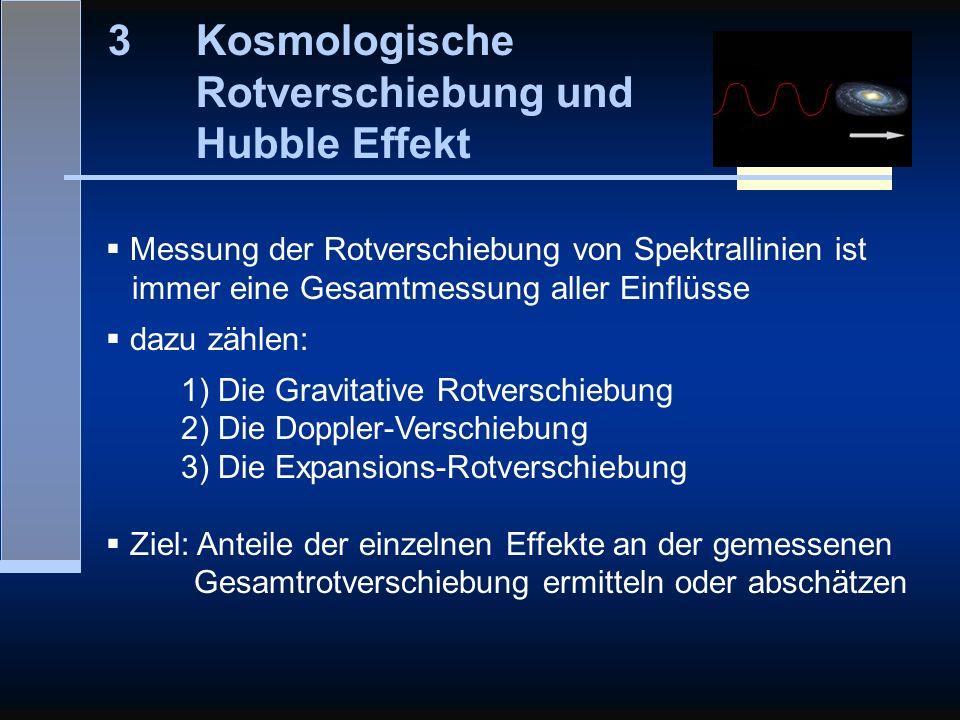 Kosmologische Rotverschiebung und Hubble Effekt