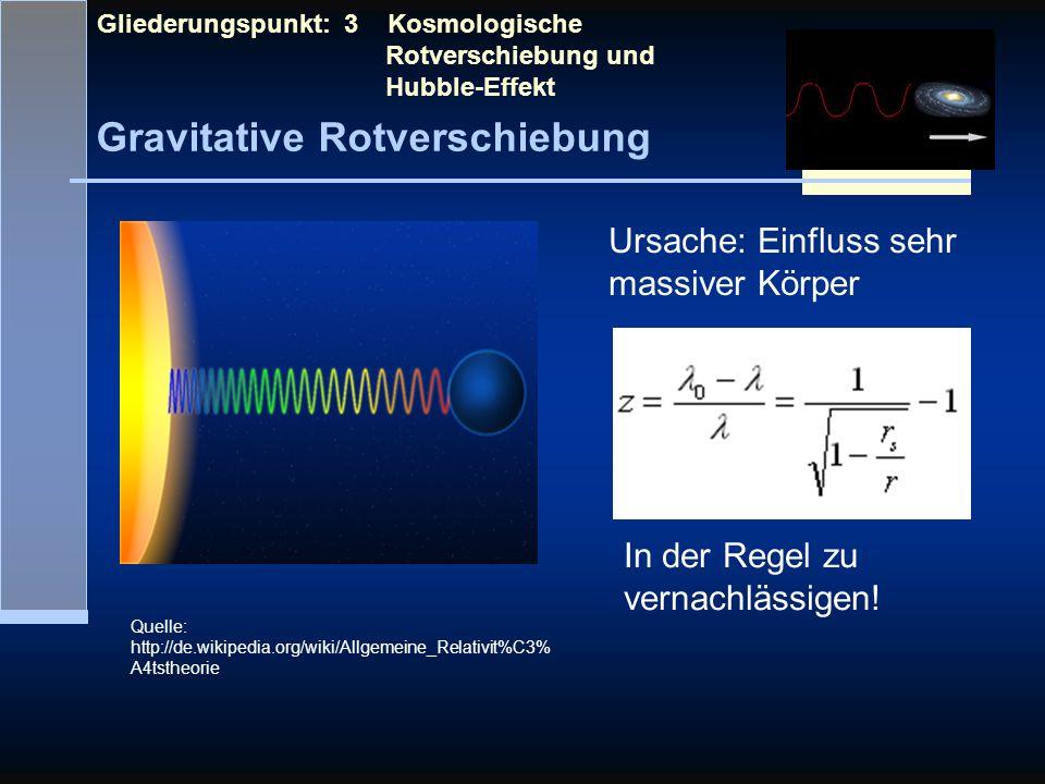 Gravitative Rotverschiebung