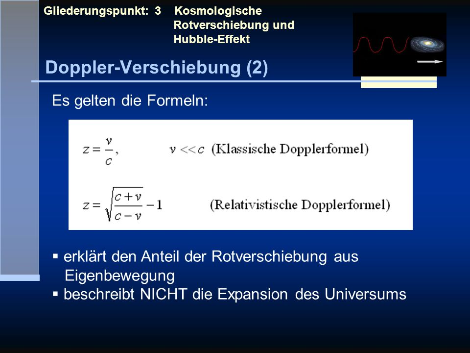 Doppler-Verschiebung (2)