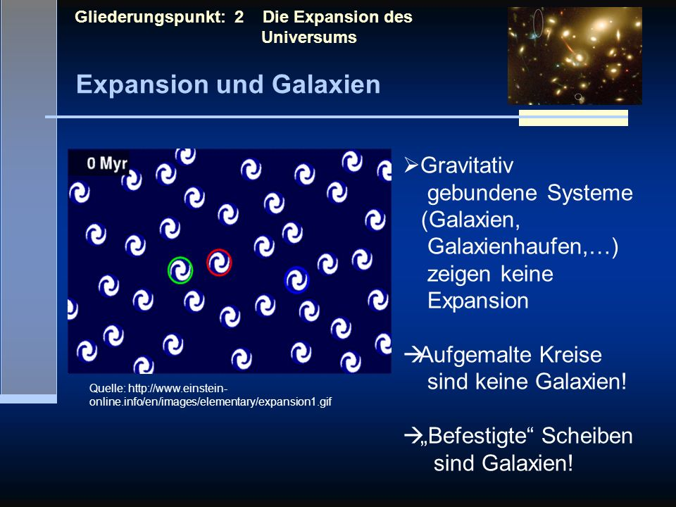 Expansion und Galaxien