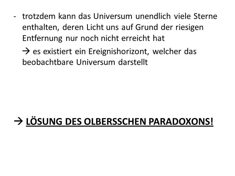  LÖSUNG DES OLBERSSCHEN PARADOXONS!