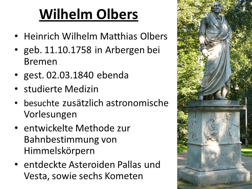 Wilhelm Olbers Heinrich Wilhelm Matthias Olbers