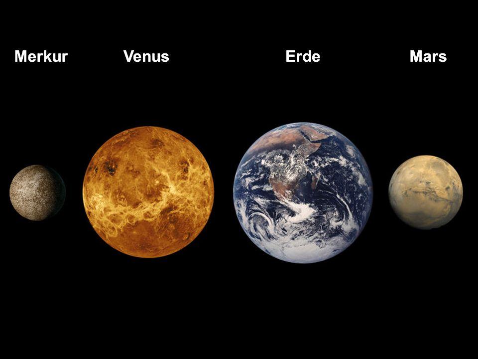 Merkur Merkur Venus Venus Erde Erde Mars Mars Merkur keine Atmosphaere