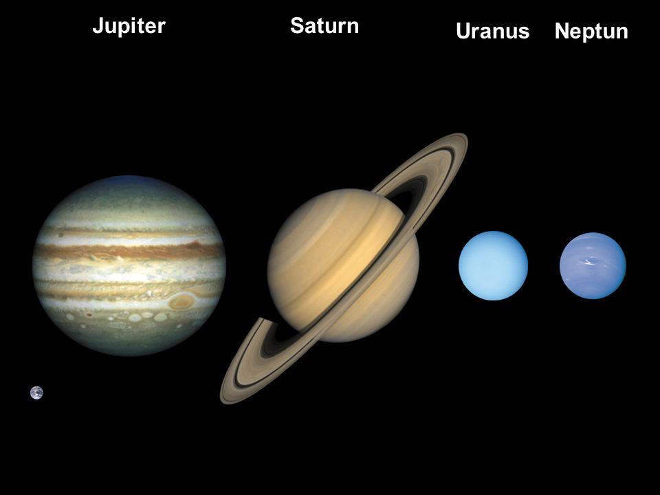 Jupiter Saturn Uranus Neptun Neptun: 30x so weit weg wie Erde