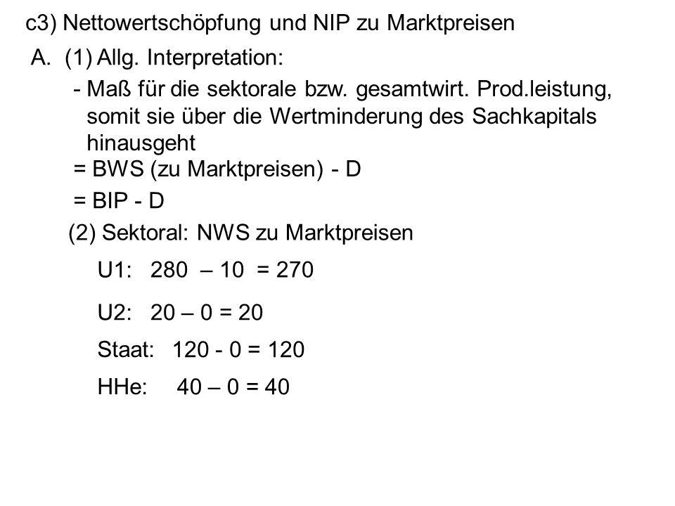 c3) Nettowertschöpfung und NIP zu Marktpreisen