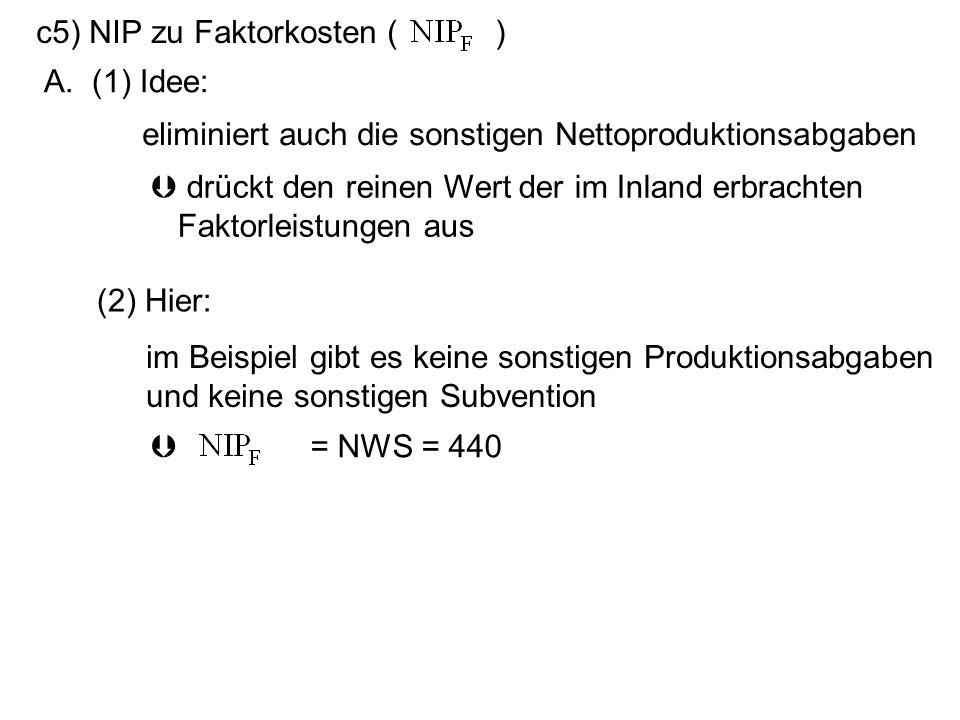 c5) NIP zu Faktorkosten ( )