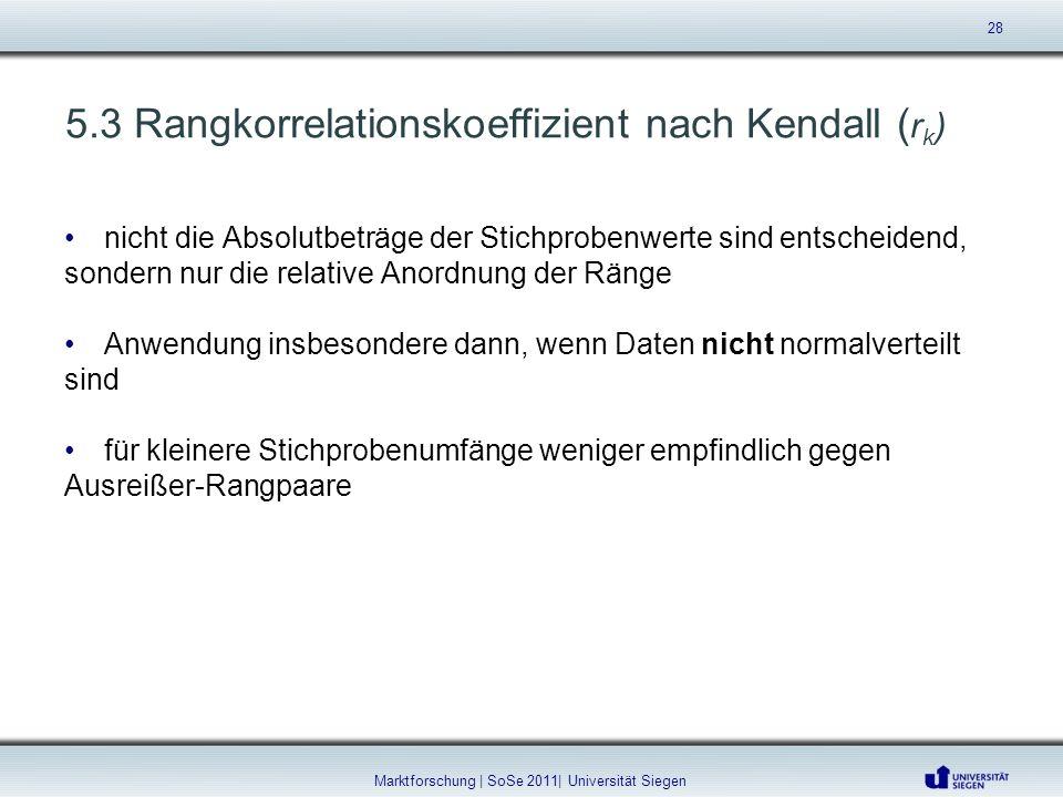 5.3 Rangkorrelationskoeffizient nach Kendall (rk)