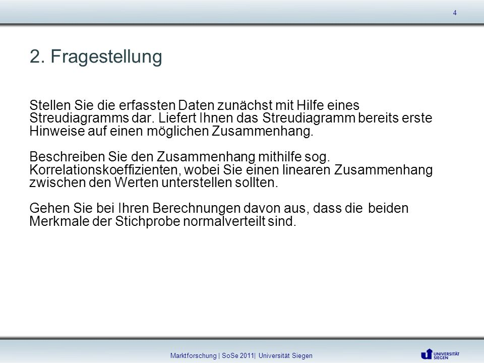 Marktforschung | SoSe 2011| Universität Siegen