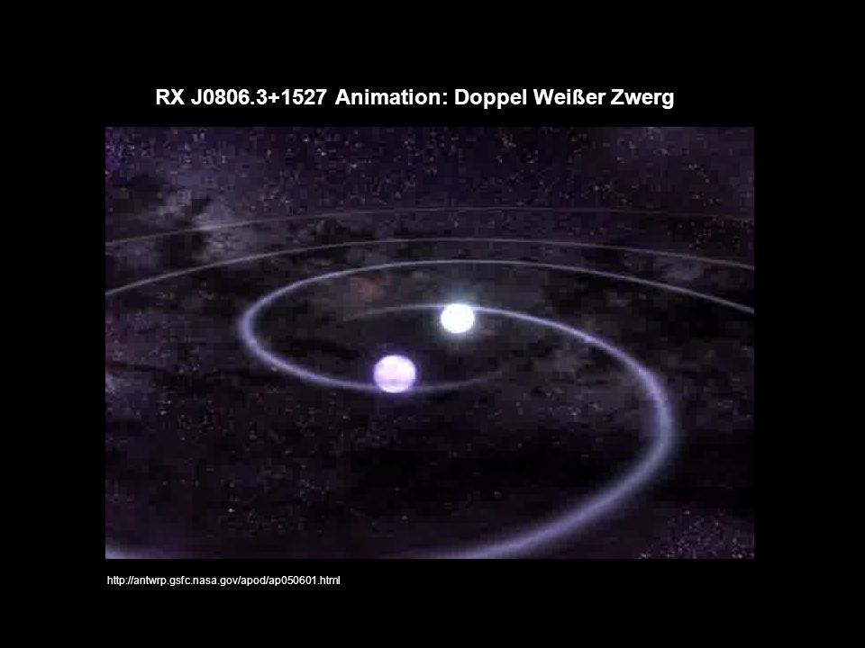RX J0806.3+1527 Animation: Doppel Weißer Zwerg