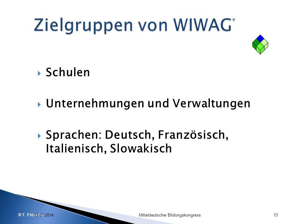 Zielgruppen von WIWAG®