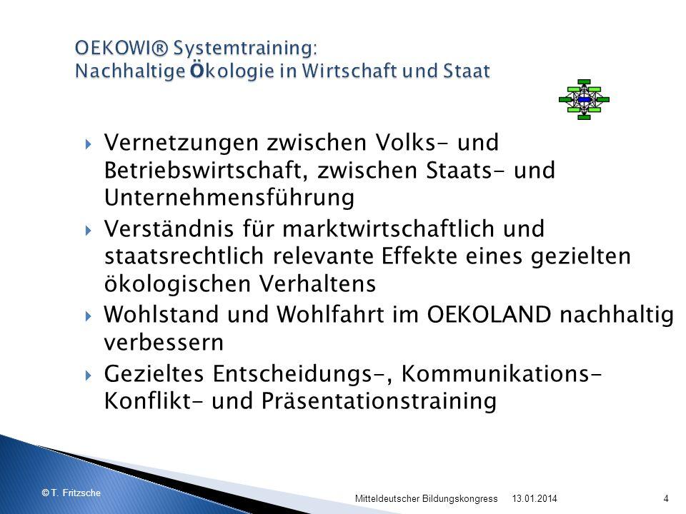 OEKOWI® Systemtraining: Nachhaltige Ökologie in Wirtschaft und Staat