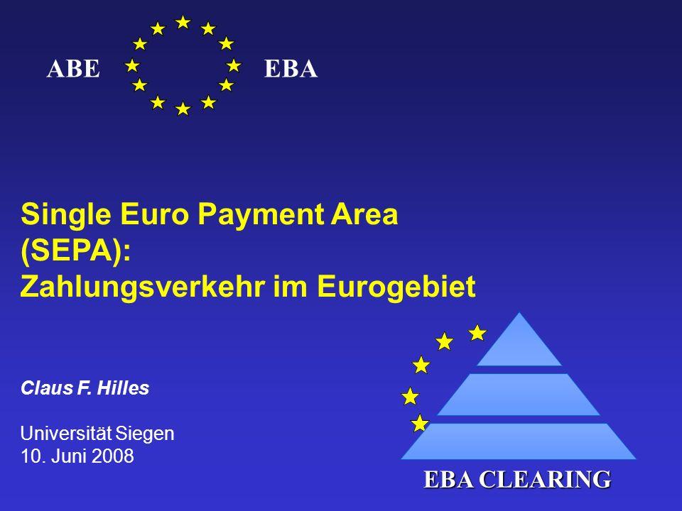 Single Euro Payment Area (SEPA): Zahlungsverkehr im Eurogebiet