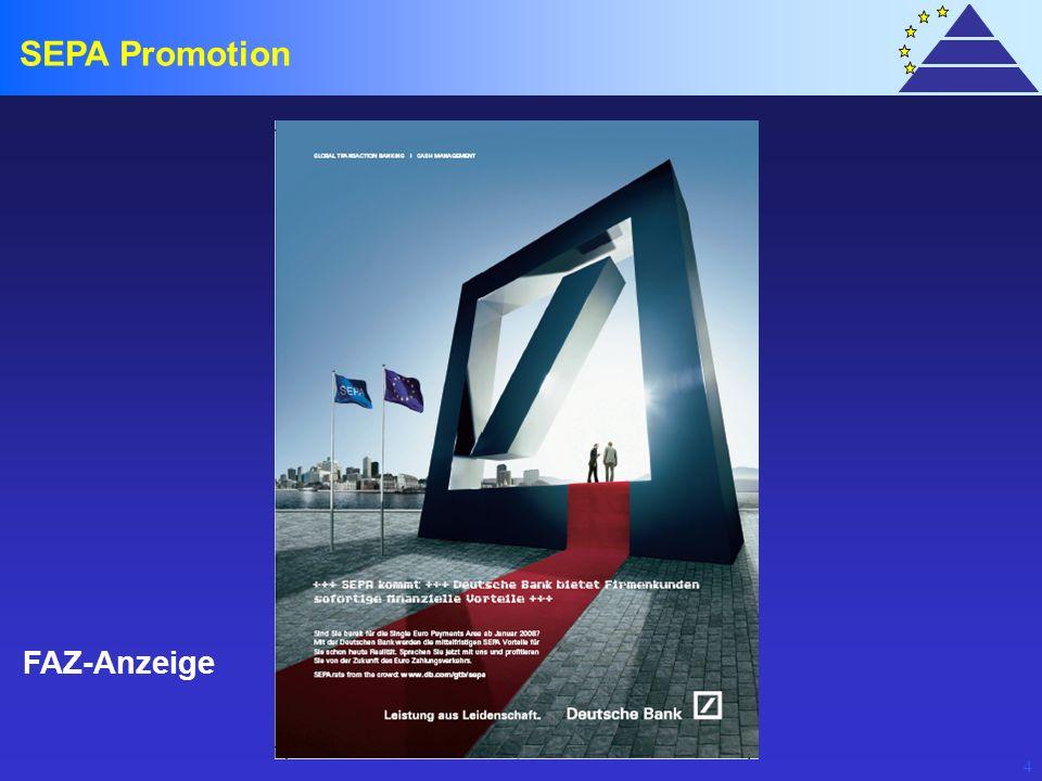SEPA Promotion FAZ-Anzeige