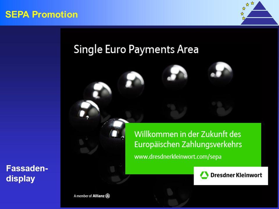 SEPA Promotion Fassaden- display