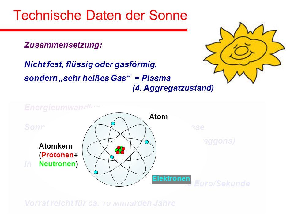 Technische Daten der Sonne