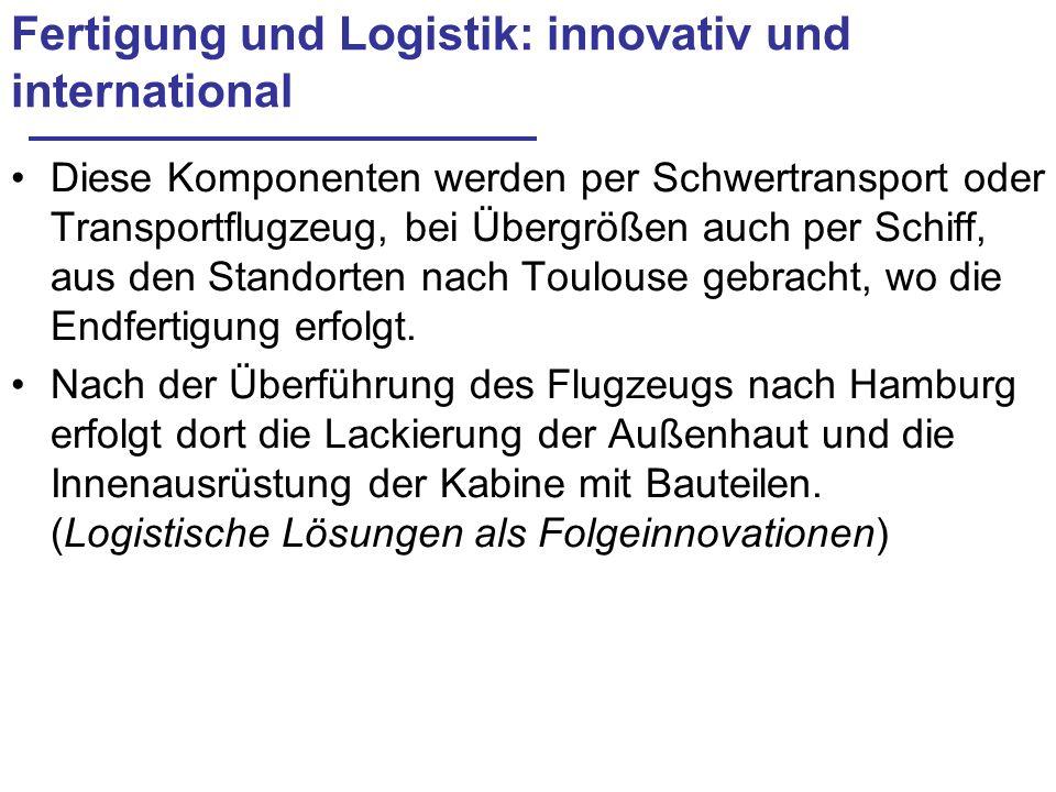 Fertigung und Logistik: innovativ und international