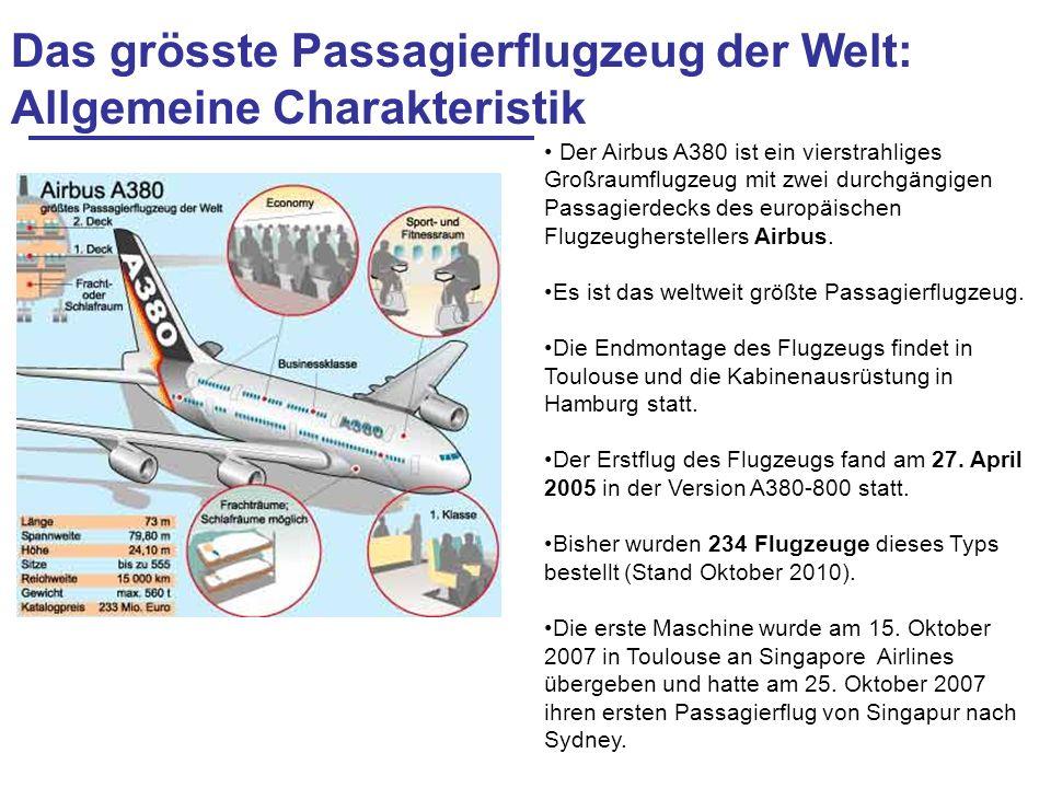 Das grösste Passagierflugzeug der Welt: Allgemeine Charakteristik