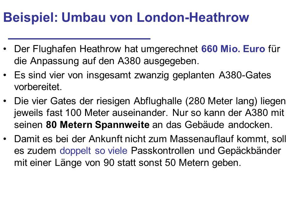 Beispiel: Umbau von London-Heathrow