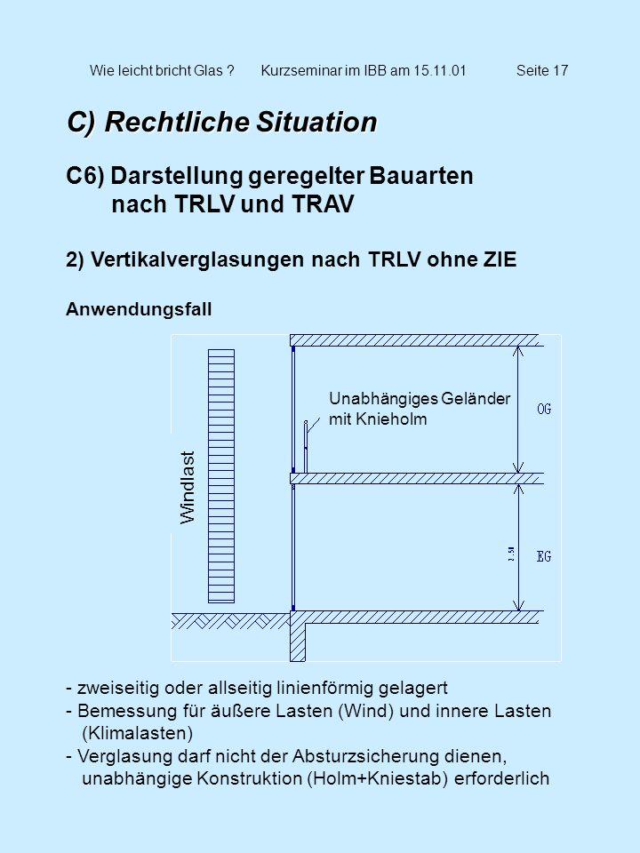 Wie leicht bricht Glas Kurzseminar im IBB am 15.11.01 Seite 17